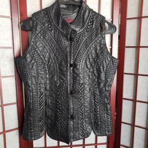 Margaret Godfrey Beautiful Retro Leather Vest